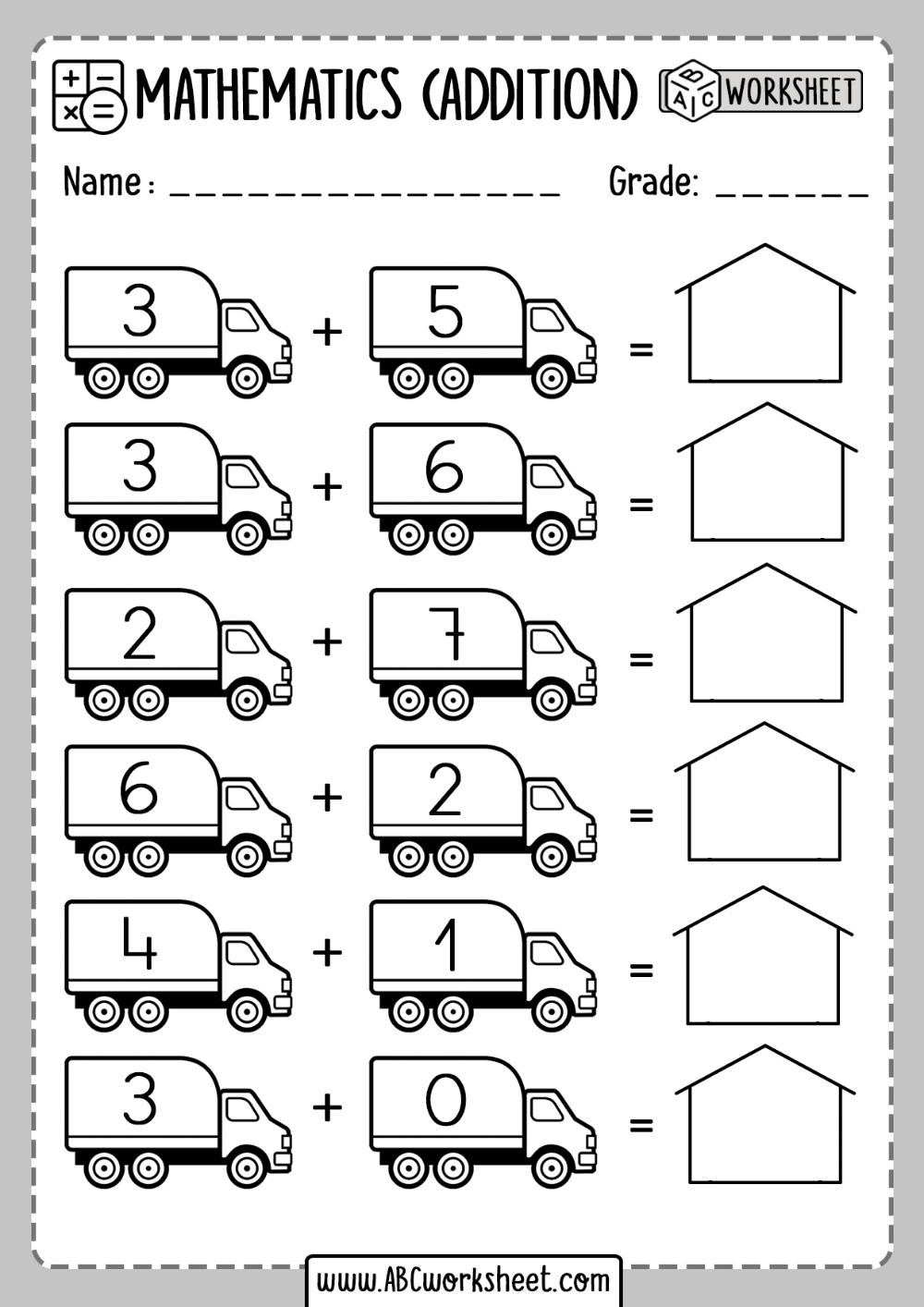 Free Addition Worksheets   Kindergarten math worksheets addition [ 1414 x 1000 Pixel ]
