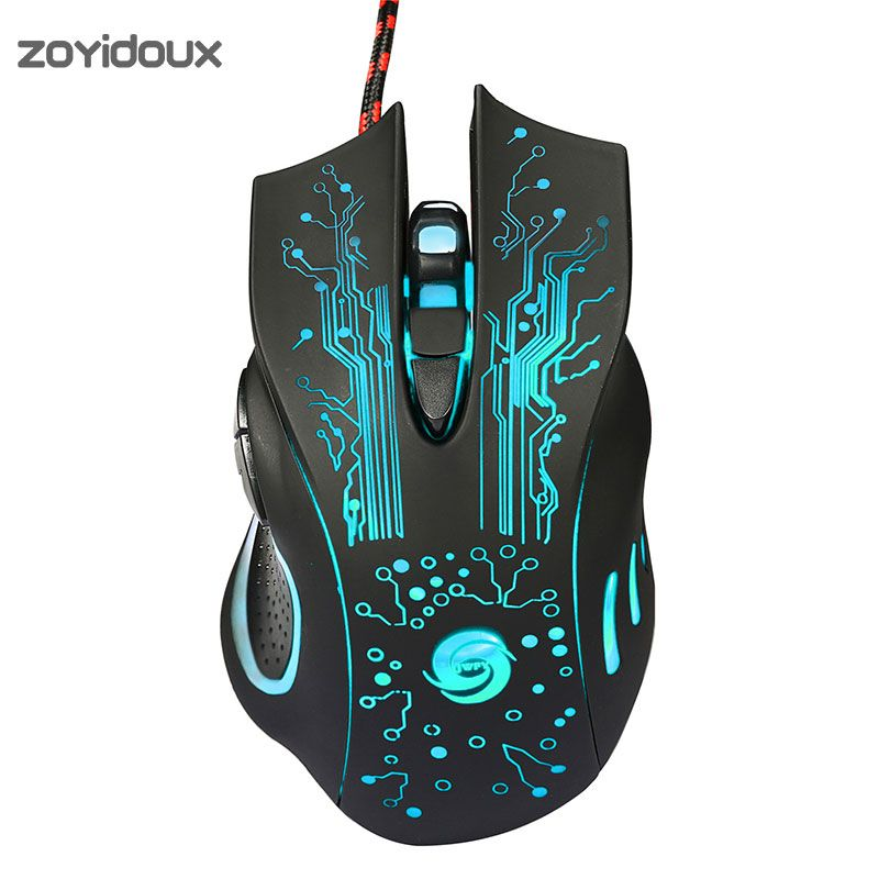 Professional USB Wired Gaming Mouse 6Button Macro Definition Optical ...