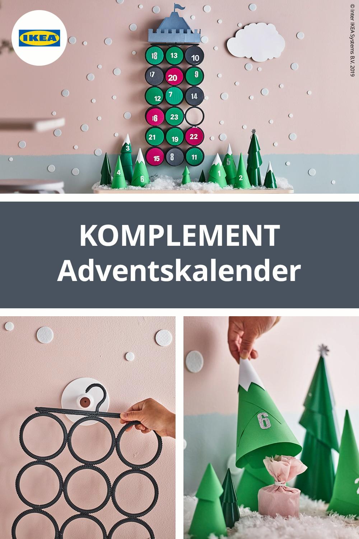 Adventskalender für Kinder basteln mit KOMPLEMENT Aufhänger #weihnachtenbastelnmitkindern