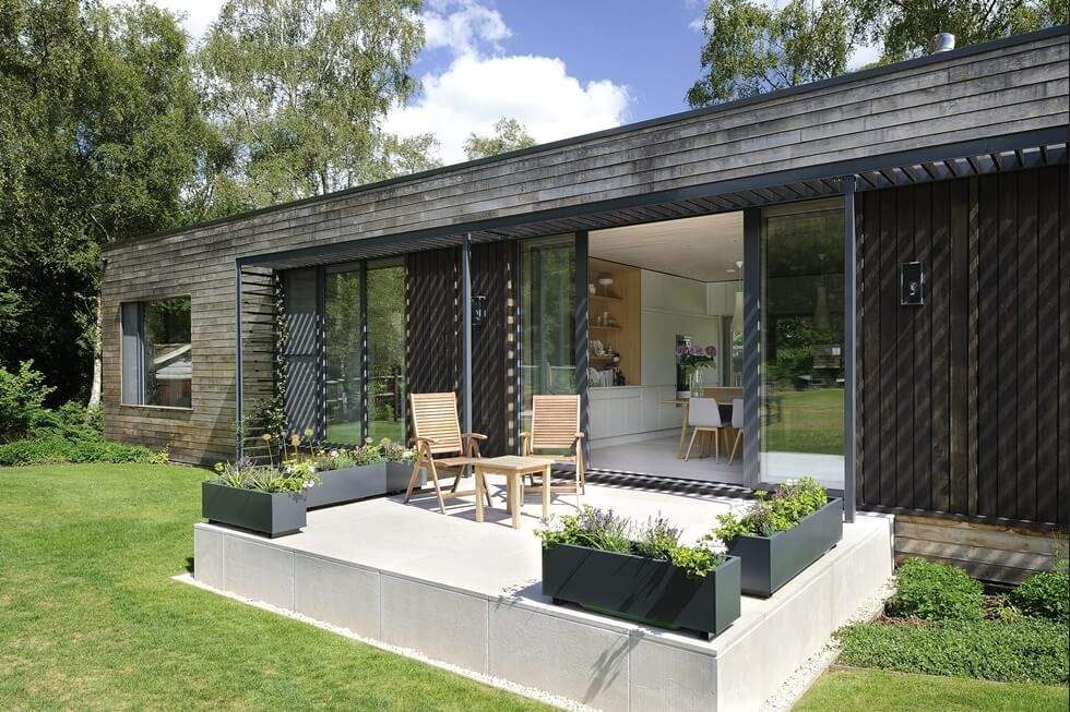 Foresi mobili ~ Contemporary mobile home in the uks new forest woodland http