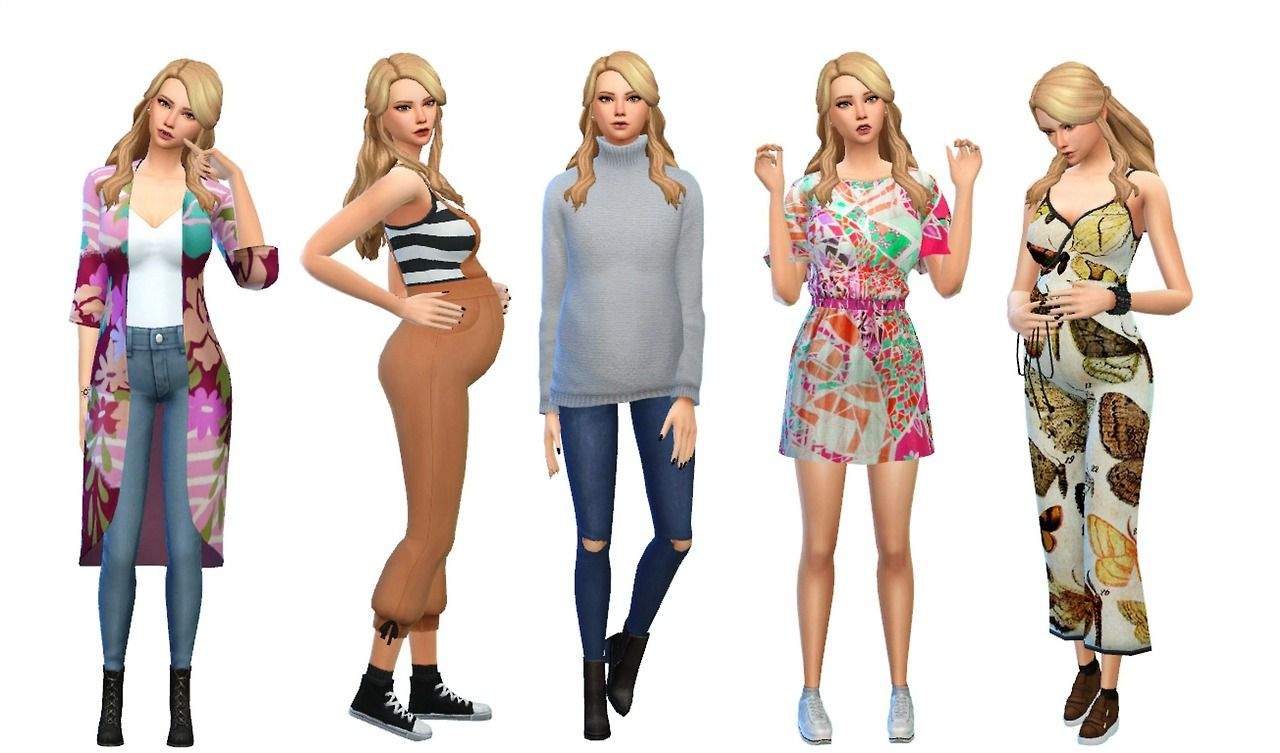 Sadnessimmer Maternity Lookbook Thank You To Simblr Sims 4 Sims 4 Mods Clothes Sims 4 Clothing