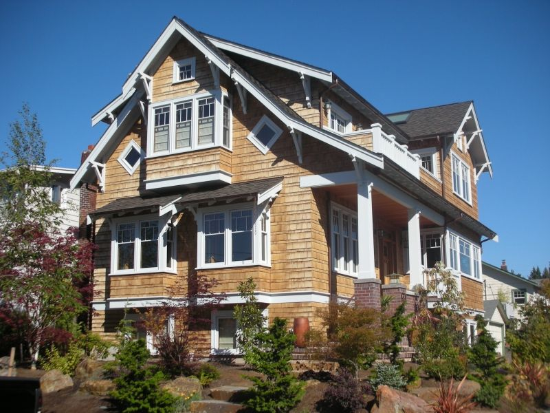 Beautiful craftsman style house in seattle cedar shingle Craftsman lake house
