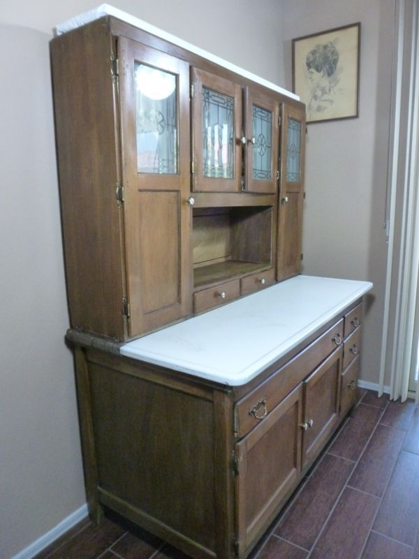 Antique Oak Sellers Hoosier Kitchen Cabinet LOCAL PICK UP ONLY 1900 ...