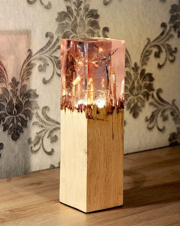 Wood And Acrylic Lamp Handcrafted Lamp Lamp