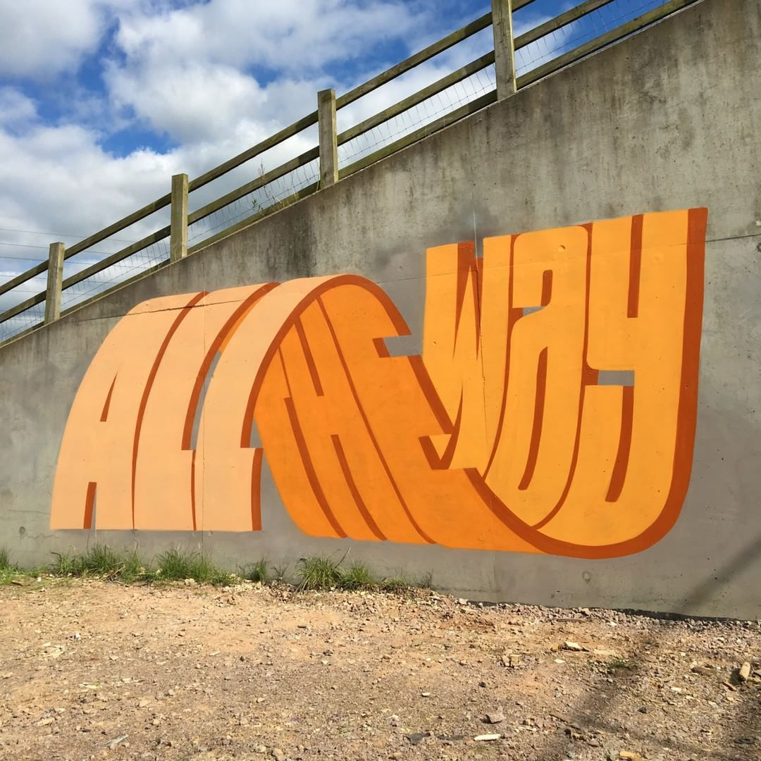 L'artiste britannique PREF s'intéresse depuis une vingtaine d'année à l'esthétique du graffiti. Il travaille ainsi sur les typographies #3dtypography