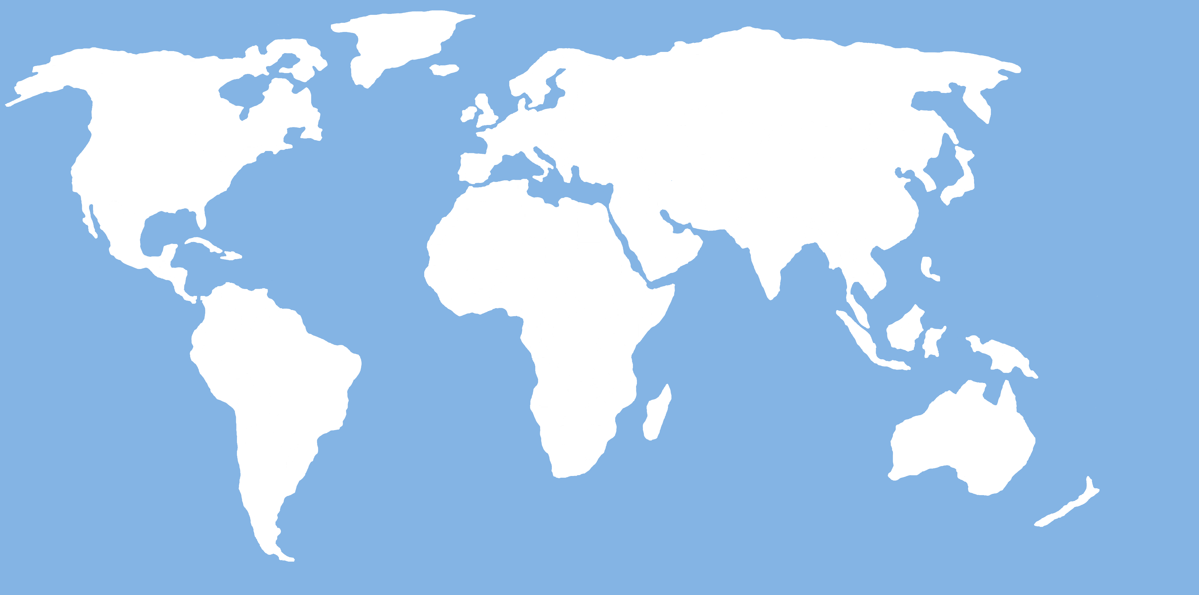World Map Simple Labeled Inside Basic For Of The
