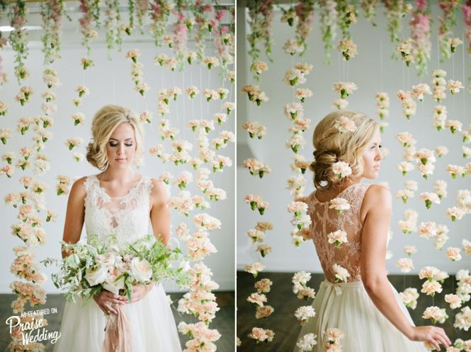 Romantic carnation flower curtain backdrop