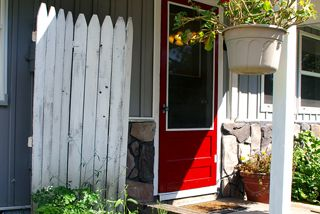 A privacy fence room divider: Covering up an outdoor eye sore