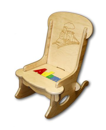 First Puzzle Rocking Chair Engraved Baby Nursery Decor