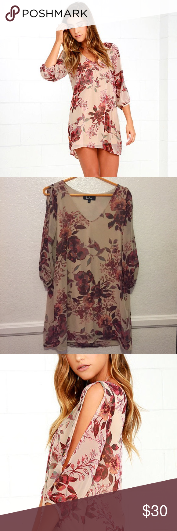 Brand new Lulu's shift dress Brand new with tags! Size XS but can probably fit a small! Would look great for a day out on the town! Lulu's Dresses Long Sleeve