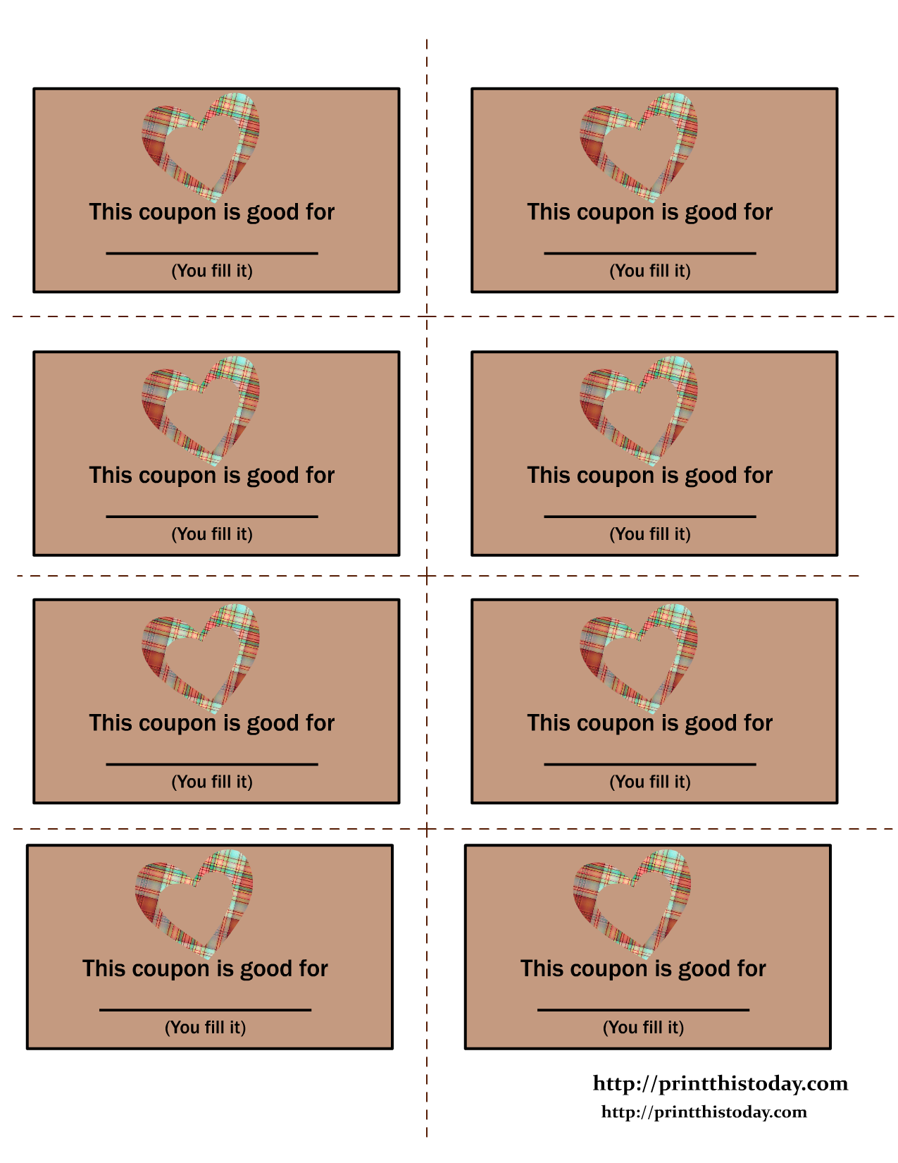 Valentine\'s Day Coupon book printout, like these ones | It\'s party ...