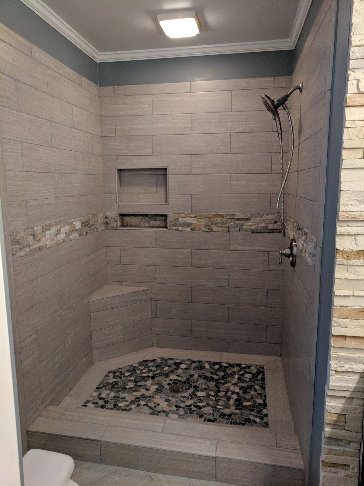 Master Bath Remodel Removed Large Garden Tub And Shower Combo And