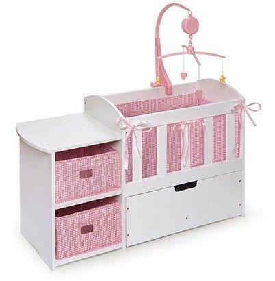 Doll Crib With Changing Table Casitas Mini Diy Bebe