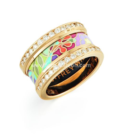 Frey Wille Ring From The 18k Collection Fun Artsy Enameled Jewellery