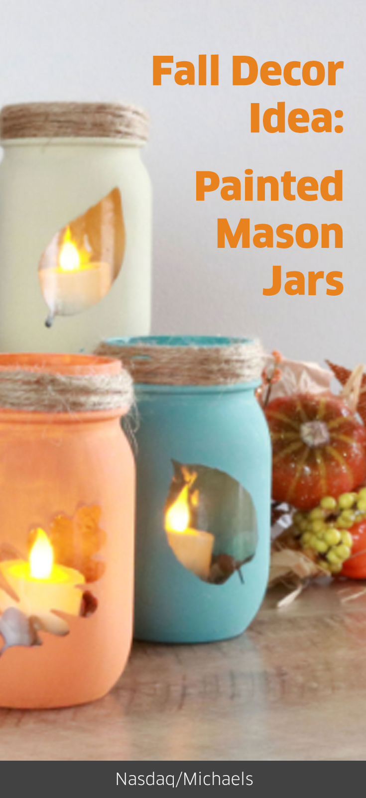 Mason Jars Make For A Great Shabby Chic Craft When Hygge Sets In - Manualidades-shabby-chic