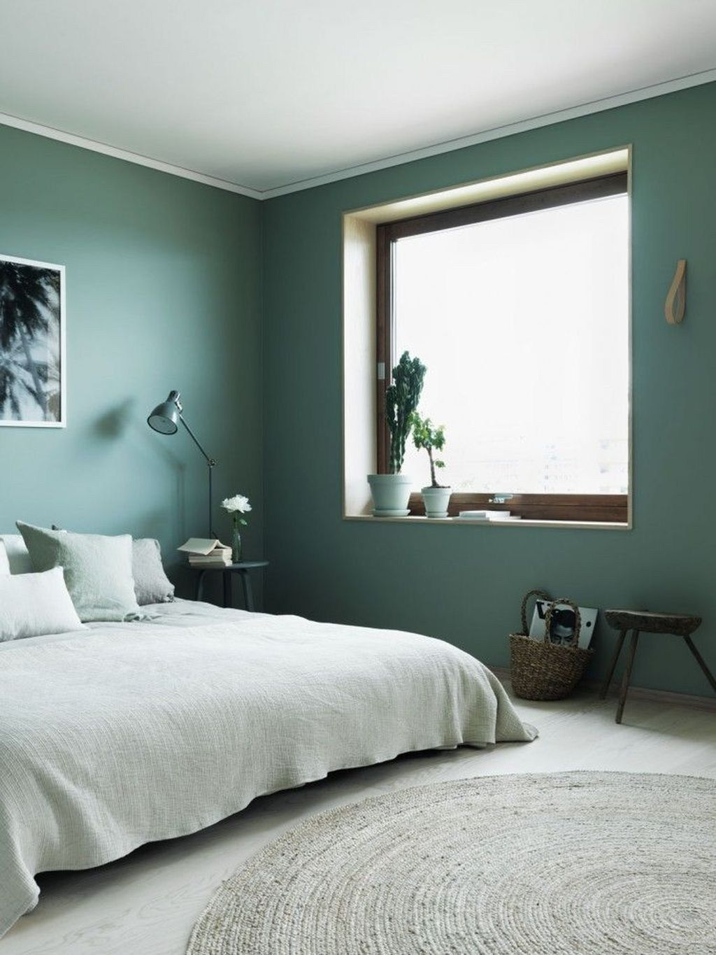 50 Beautiful And Calm Green Bedroom Decoration Ideas Trendehouse Bedroom Green Bedroom Interior Home Decor Bedroom
