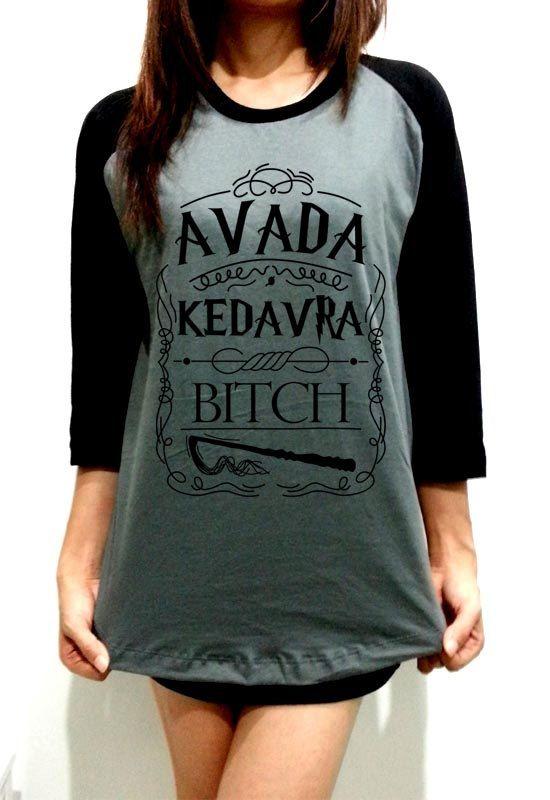 Harry Potter Clothing Shirt Avada Kedavra Grey by SomethingRight9