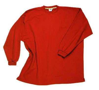 Photo of Crewneck sweat shirt without waistband red