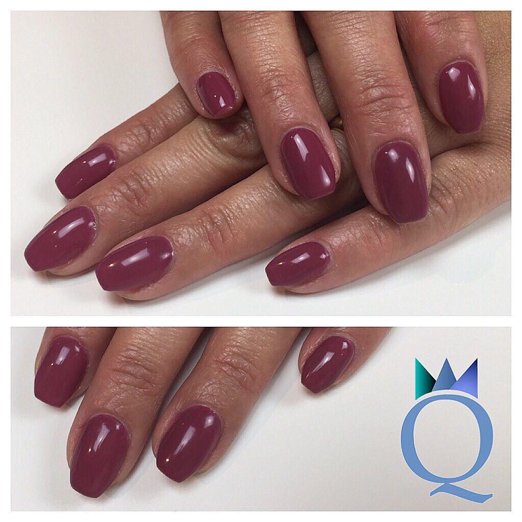 shortnails #acrylicnails #nails #coffinnails #ballerina #shape #plum ...