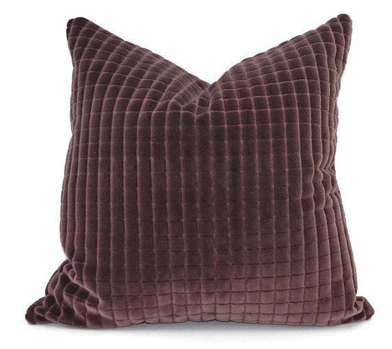 12X20 Pillow Insert Aubergine Cut Velvet Throw Pillow Cover 20X20 12X20 Lumbar  Pute