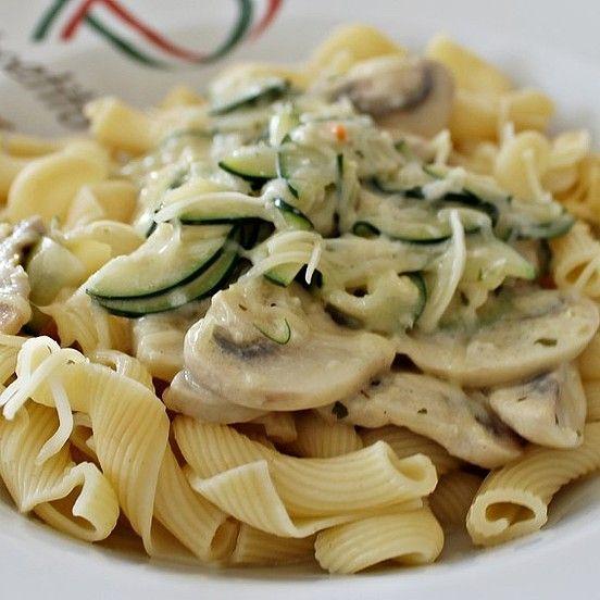 Photo of Pasta with zucchini and mushroom cream cheese sauce from La_Cuisine_1990   chef
