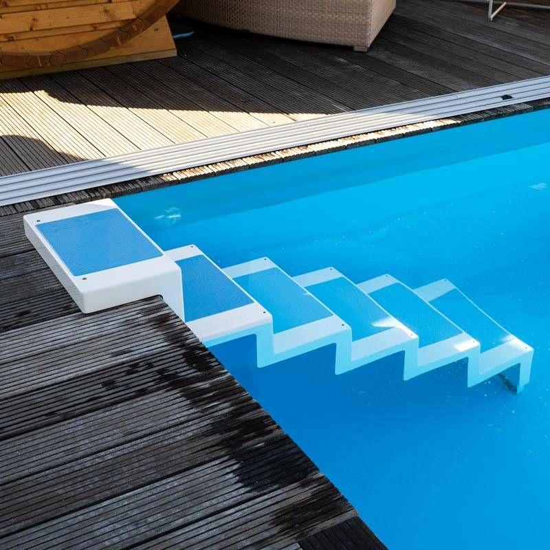 Pooltreppe Zum Nachtraglichen Einbau Poolpowershop Pool Hund Unter Treppe Pool Ideen