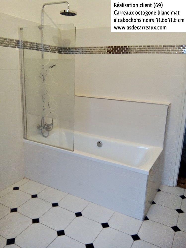 carrelage octogonal blanc mat cabochons boite avec cabochon Home - photo faience salle de bain