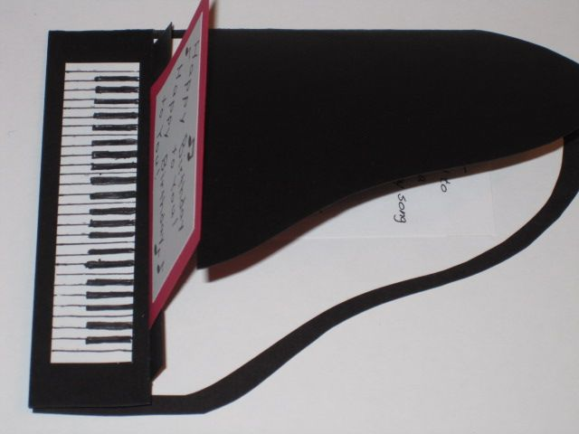 Piano card-- open view (card from folder)