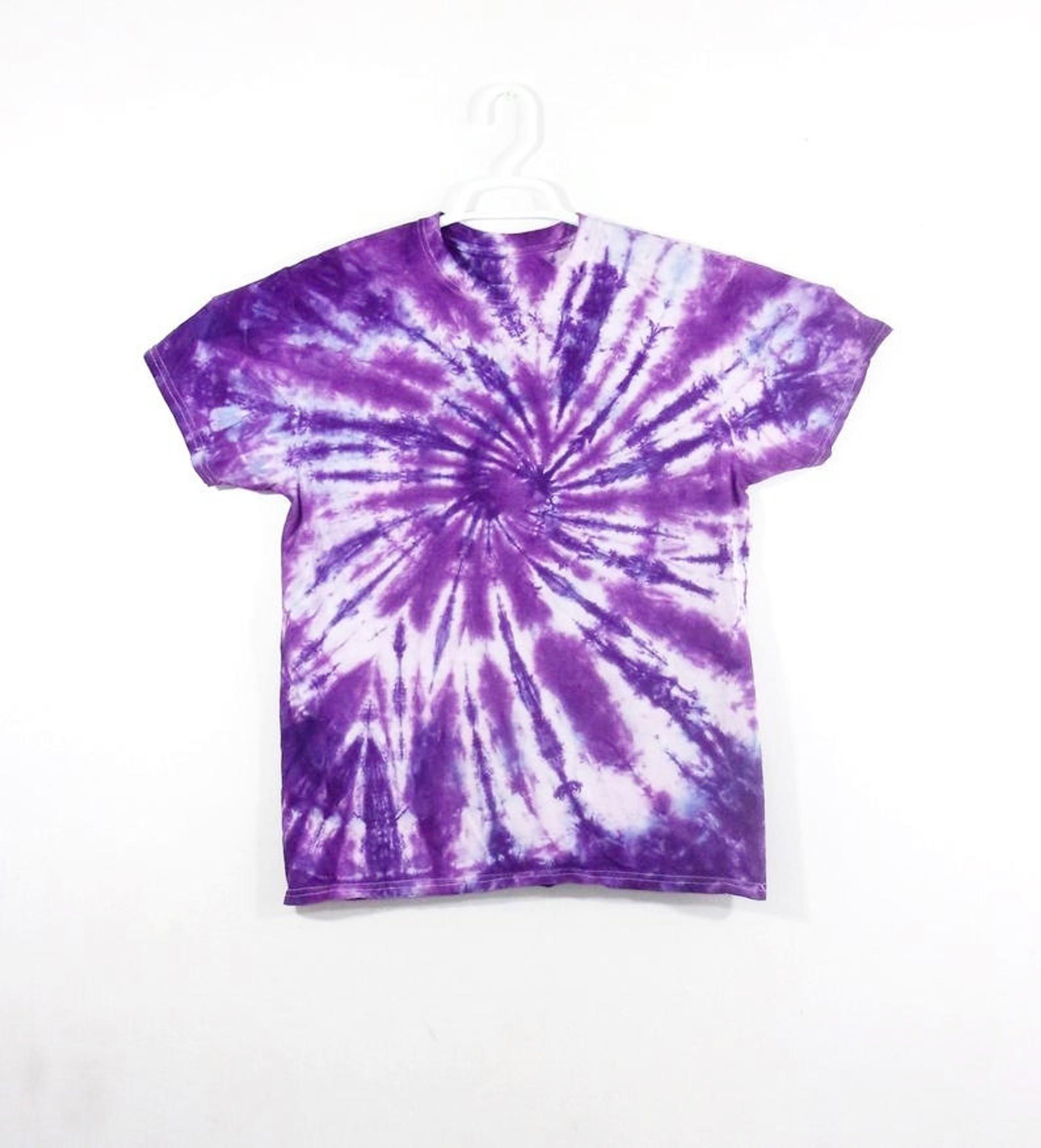 Tie Dye T Shirt Spiral Handmade Tye Die Kids Youth Sizes XS S M L XL