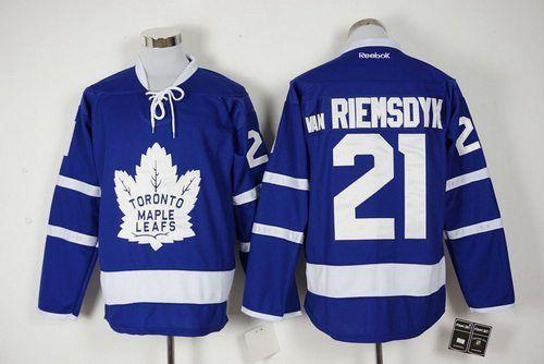 Men s Toronto Maple Leafs  21 James Van Riemsdyk Royal Blue 2016-17 Home  100TH Anniversary Hockey 030ecd859