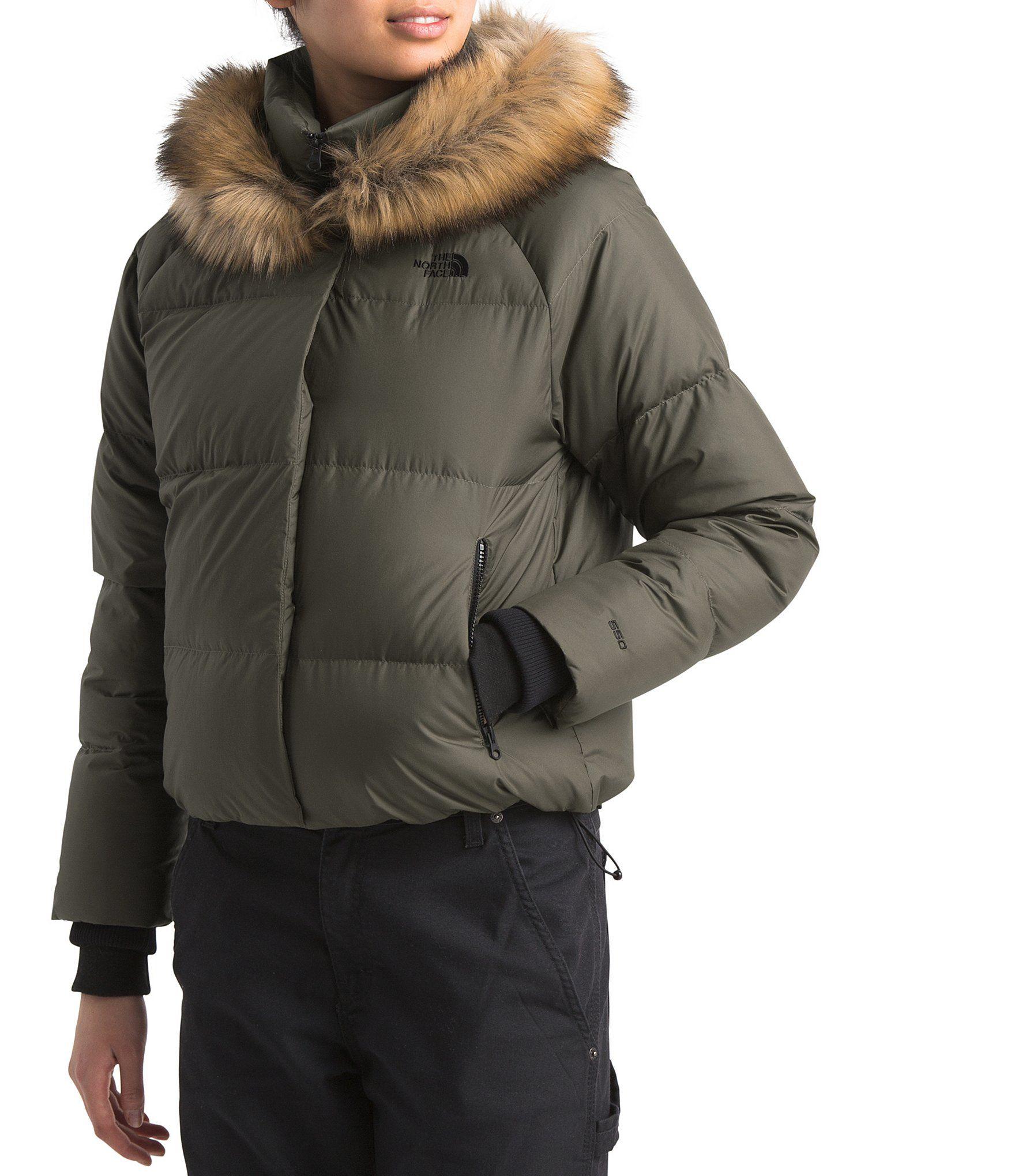 The North Face Dealio Faux Fur Hood Detail Down Crop Puffer Coat Dillard S Faux Fur Hood Puffer Coat The North Face [ 2040 x 1760 Pixel ]