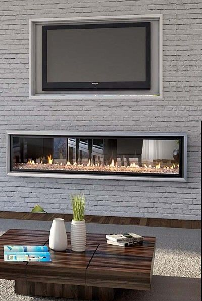 Gas Fireplace, See Through Gas Fireplace Ideas