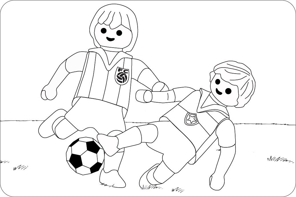 ausmalbilder kostenlos fußball spieler 06 | playmobil