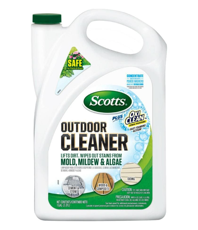 Scotts Plus 51070 Liquid Oxi Clean Outdoor Cleaner Concentrate 128 Oz Cleaning Hacks Deep Cleaning Tips Outdoor Cleaners