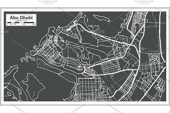 abu dhabi uae map in retro style abu dhabi retro style and uae