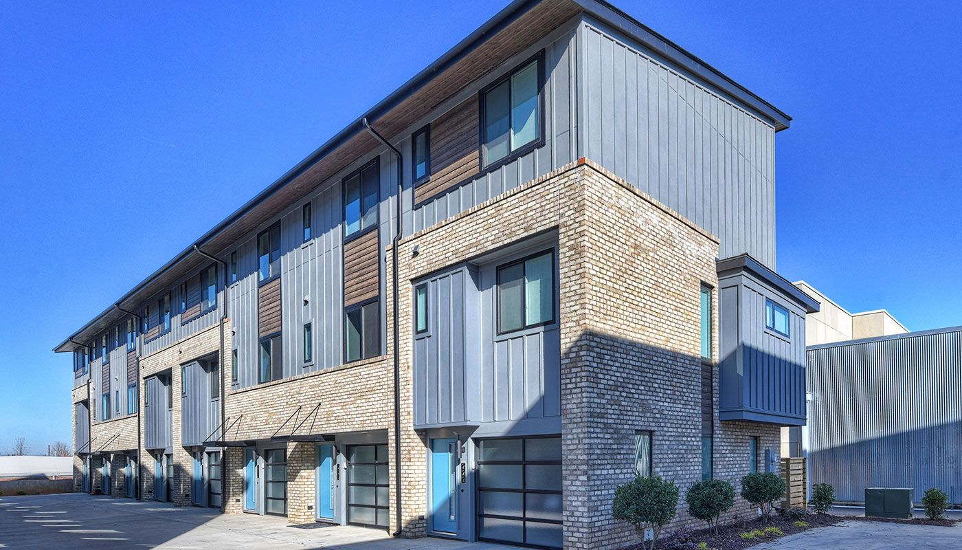Pin On Domain Townhomes Industrial Chic Townhomes Charlotte Nc