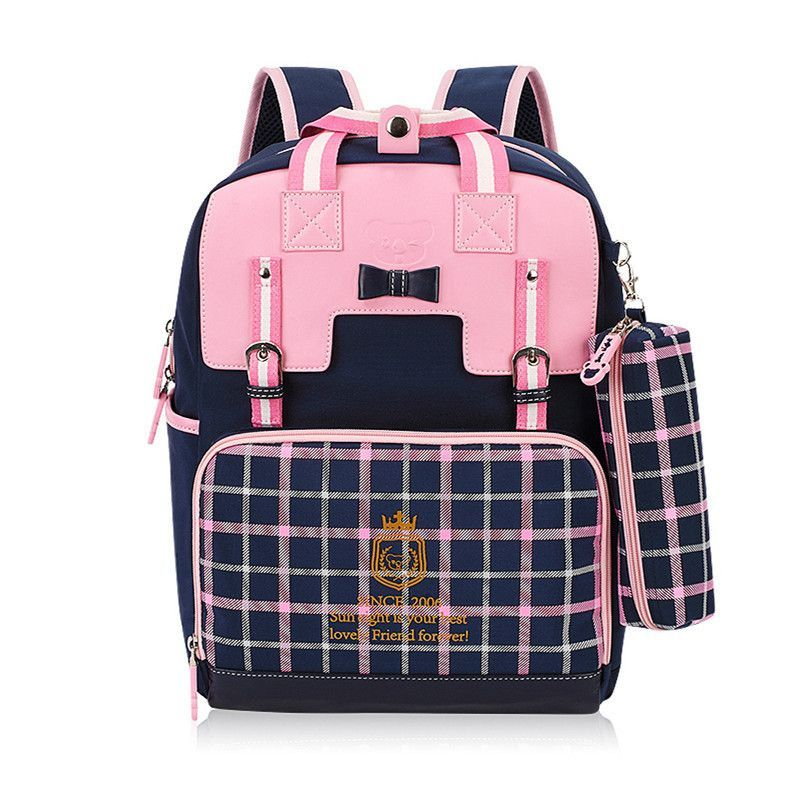 55c1a826451b Super Cute High-Quality Children s PU Leather Large-Capacity Designer  Fashion Backpack w Pencil Pouch 4 Colors