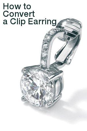 How To Convert Clip On Earrings To Regular Earrings Overstock Om