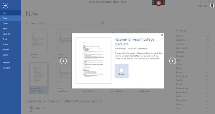 Use Free Resumes From Microsoft To Get Your Next Job College