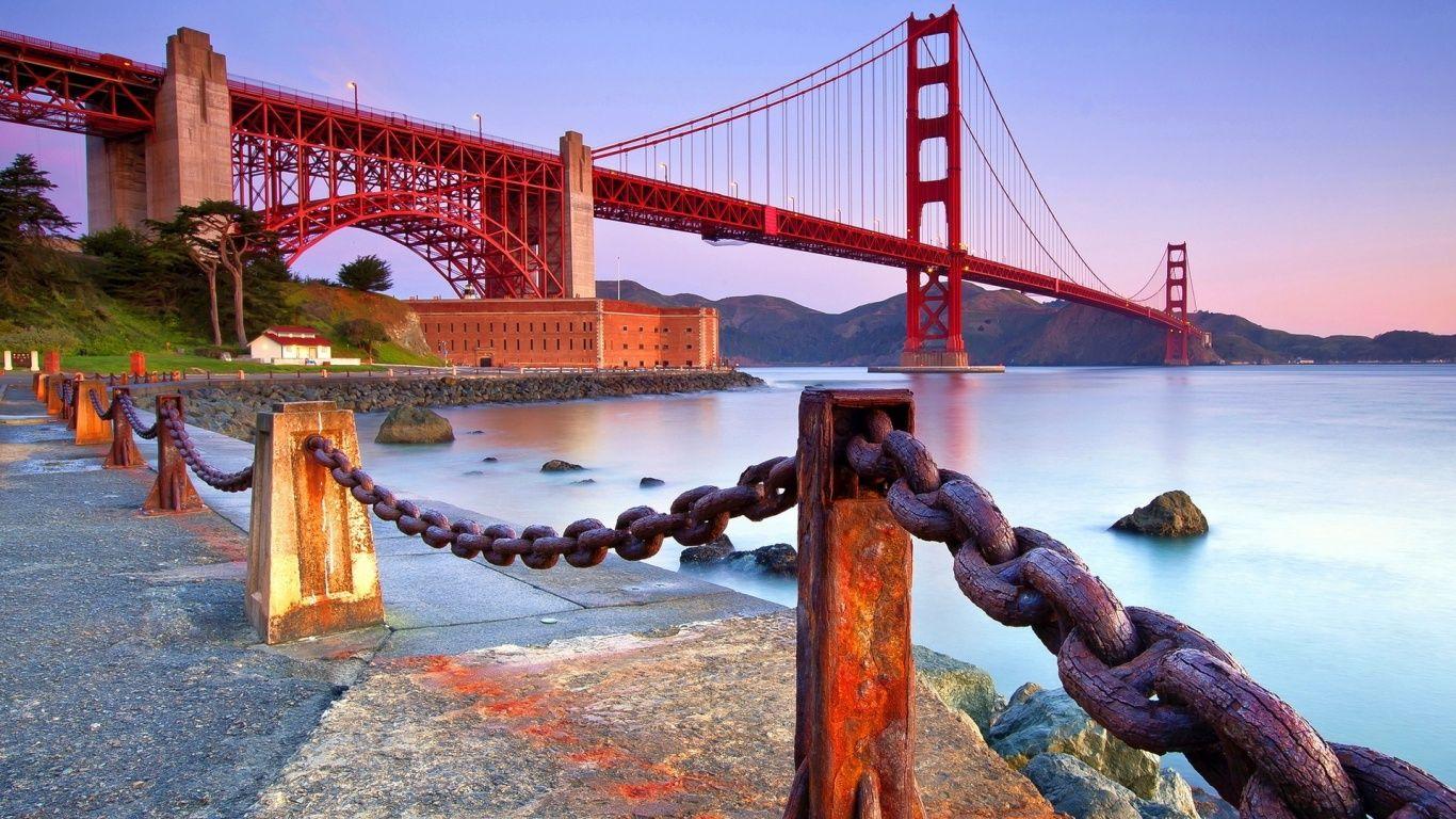 Golden Gate 1366x768 Wallpaper Golden Gate Bridge