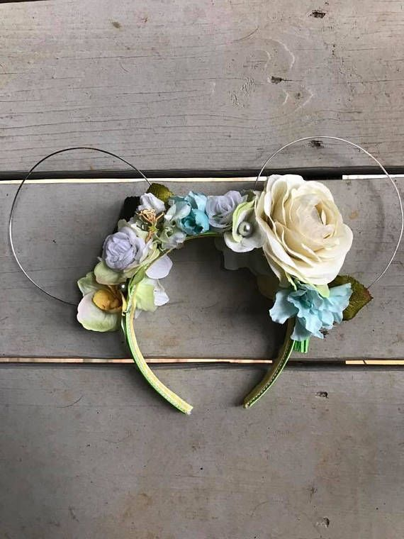 Tinkerbell Inspired Wire Ears with Floral Crown | One-of-a-kind ...