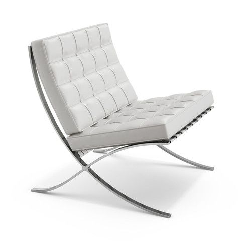 Mies Van Der Rohe Mr Chaise Barcelona Chair Iconic Furniture Modern Leather Chair