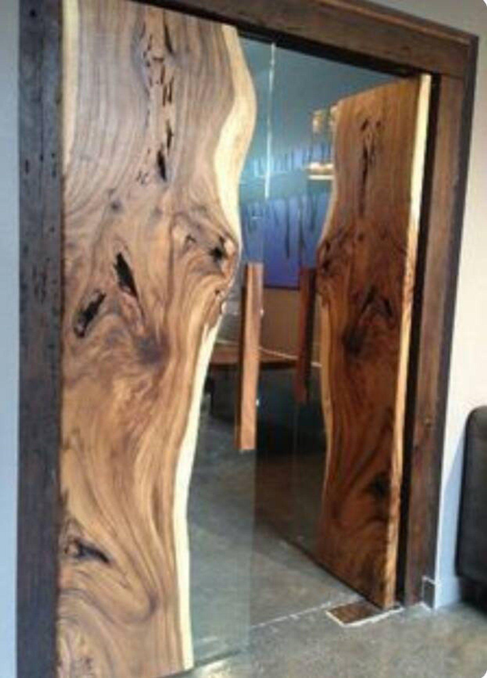 Porte Epoxy Porte En Resine Porte Recalmed Faite Sur Mesure Etsy Wood Doors Interior Wood Doors Wood Slab