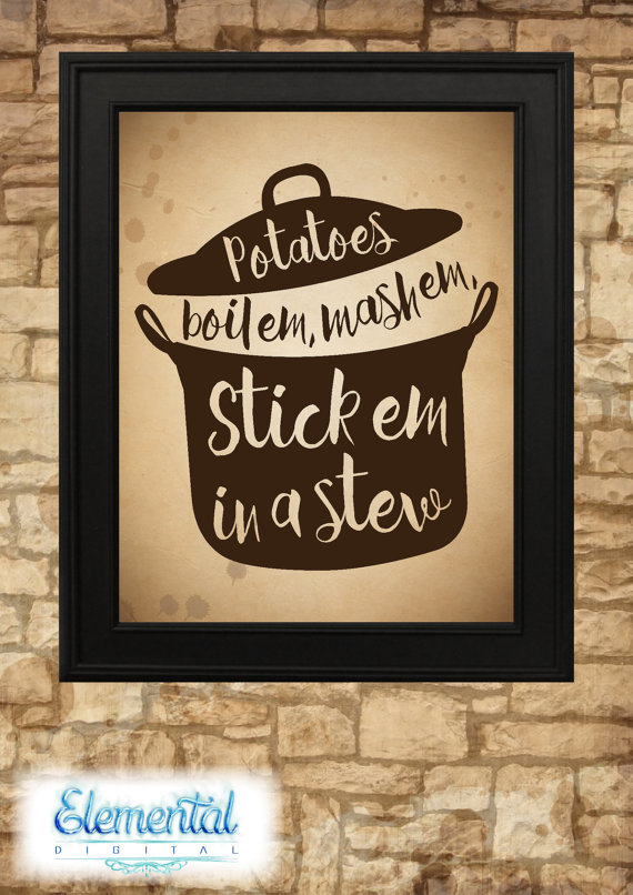 Sam Wise Potatoes Quote Vintage Poster