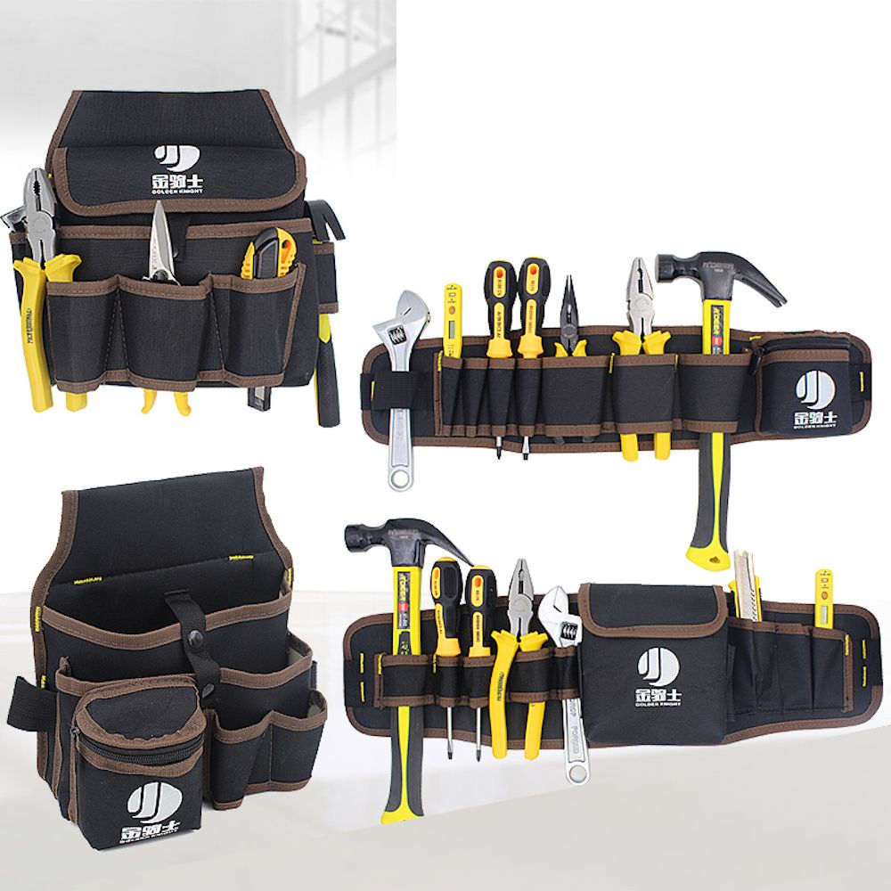 Quick Pick Tool Bag Small Pocket Merchanics Versatile Portable Roll Pack With Waist Bag With Belt Tools Holder Red Bla Tool Bag Tool Belt Electrician Tool Belt