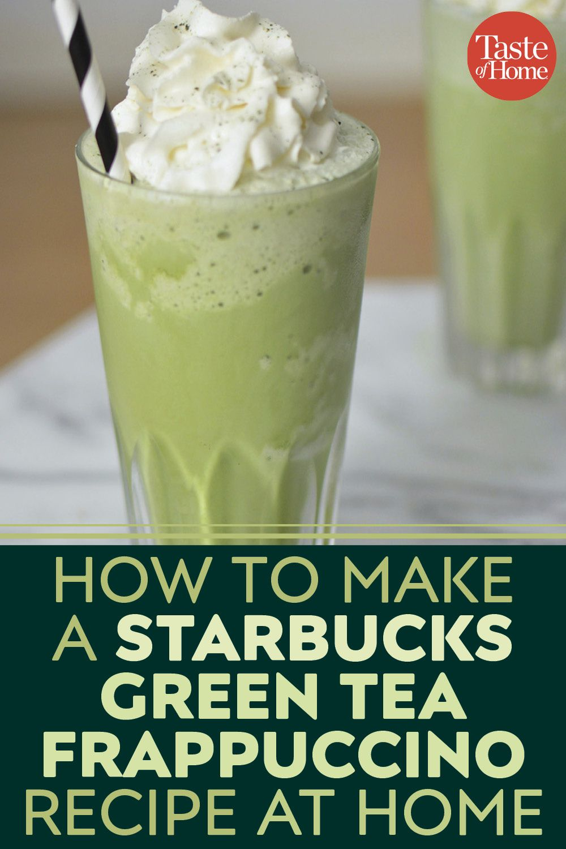 How to Make a Copycat Starbucks Green Tea Frappuccino