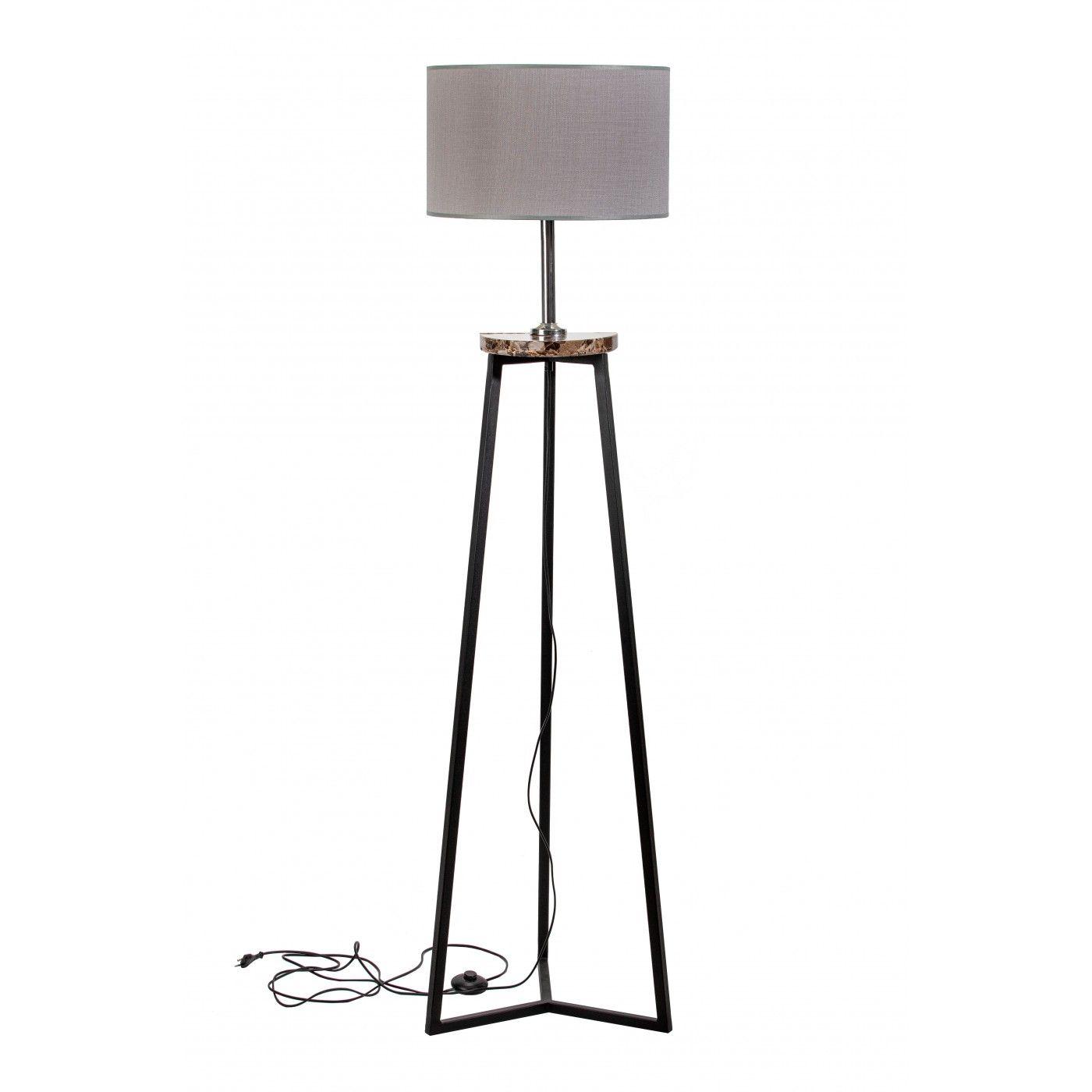 Loft Lampa Podlogowa Floki Szary Marmur 167x42 Cm Tb395 Tripod Lamp Lamp Home Decor
