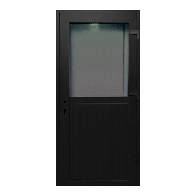 porte de service pvc 1 2 vitr e gris anthracite 80 x. Black Bedroom Furniture Sets. Home Design Ideas