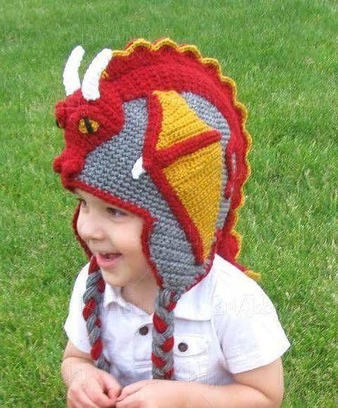 Chapeau bonnet dragon - 9 tailles du bébé à l adulte - crochet chez Makerist b4e2b31bf82