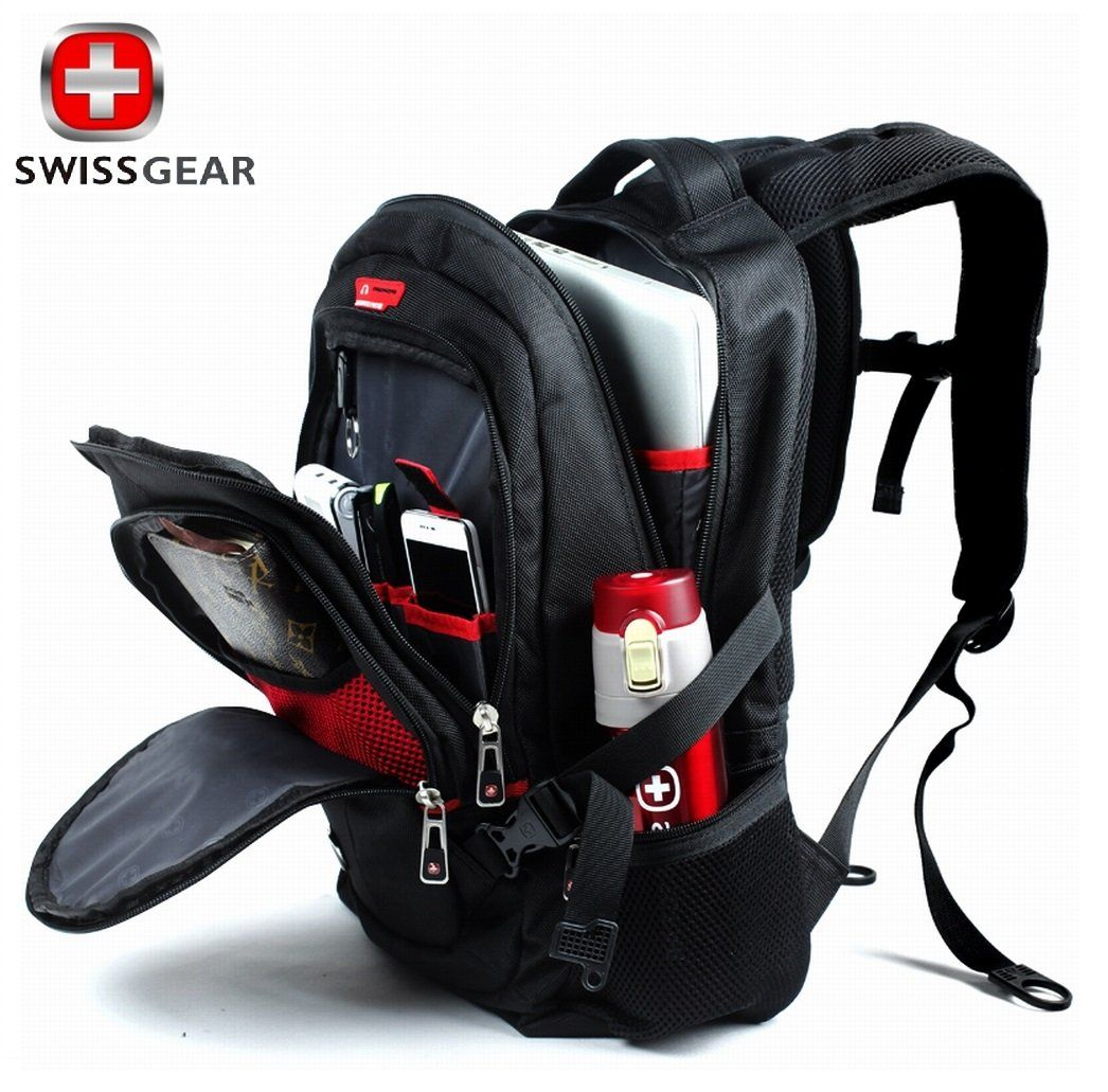 Hot waterproof swiss gear multifunctional men luggage travel bags brand knapsack rucksack for Travel gear brand